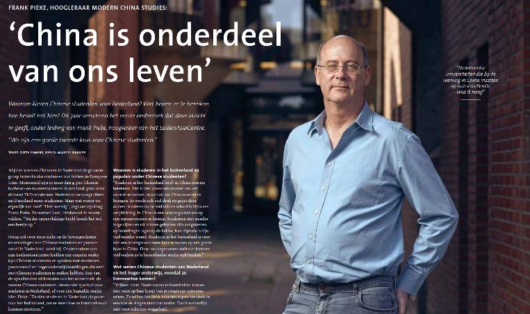 """Interview met Professor Frank Pieke in Transfer: """"China is onderdeel van  ons leven"""" - LeidenAsiaCentre"""