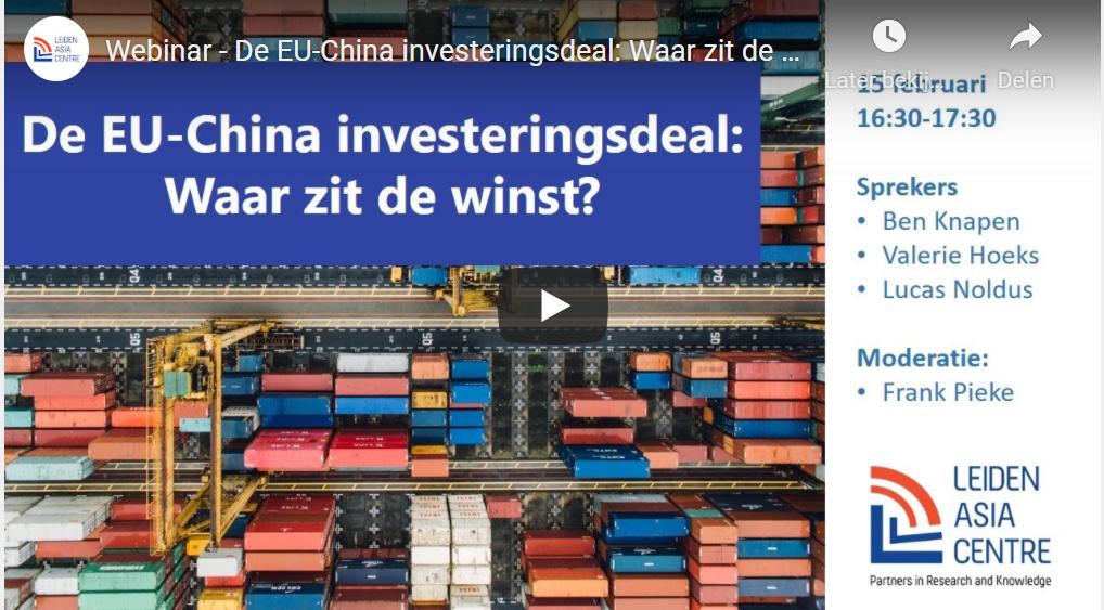 Terugkijken – De EU-China investeringsdeal: Waar zit de winst?