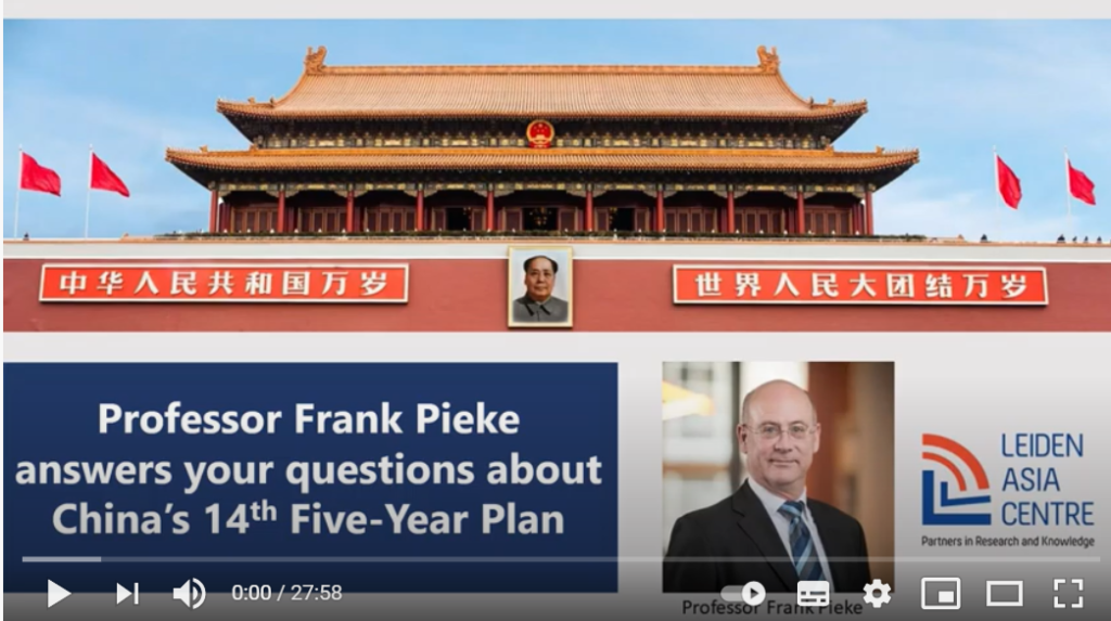Video: Modern China Professor Frank Pieke answers your questions about China's 14th Five-Year Plan